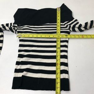 White House Black Market Sweaters - WHBM Size Medium Striped Off Shoulder Sweater Top